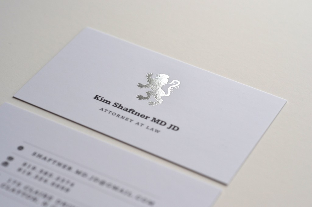 Foil business card design